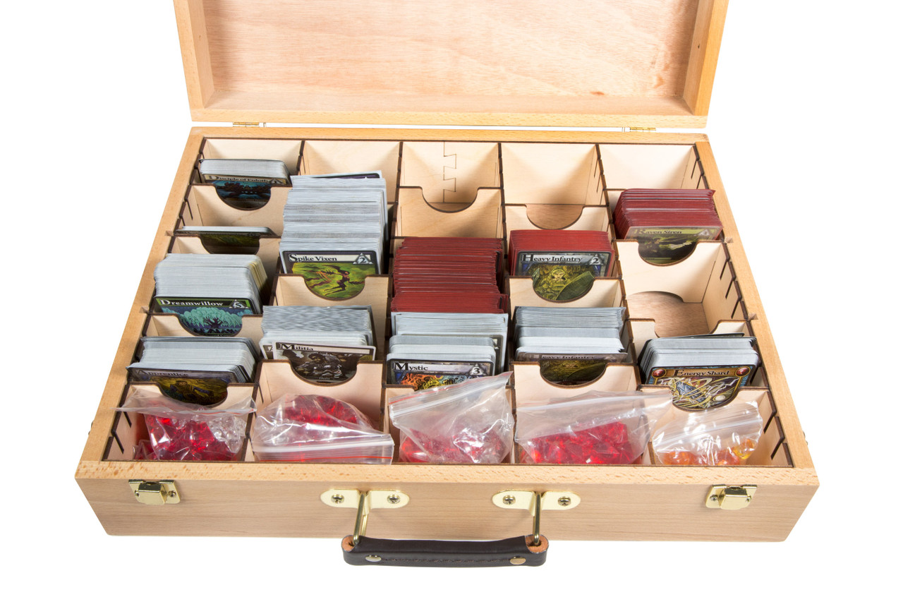 Unfinished Wooden Artist Case and ORG011 Organizer