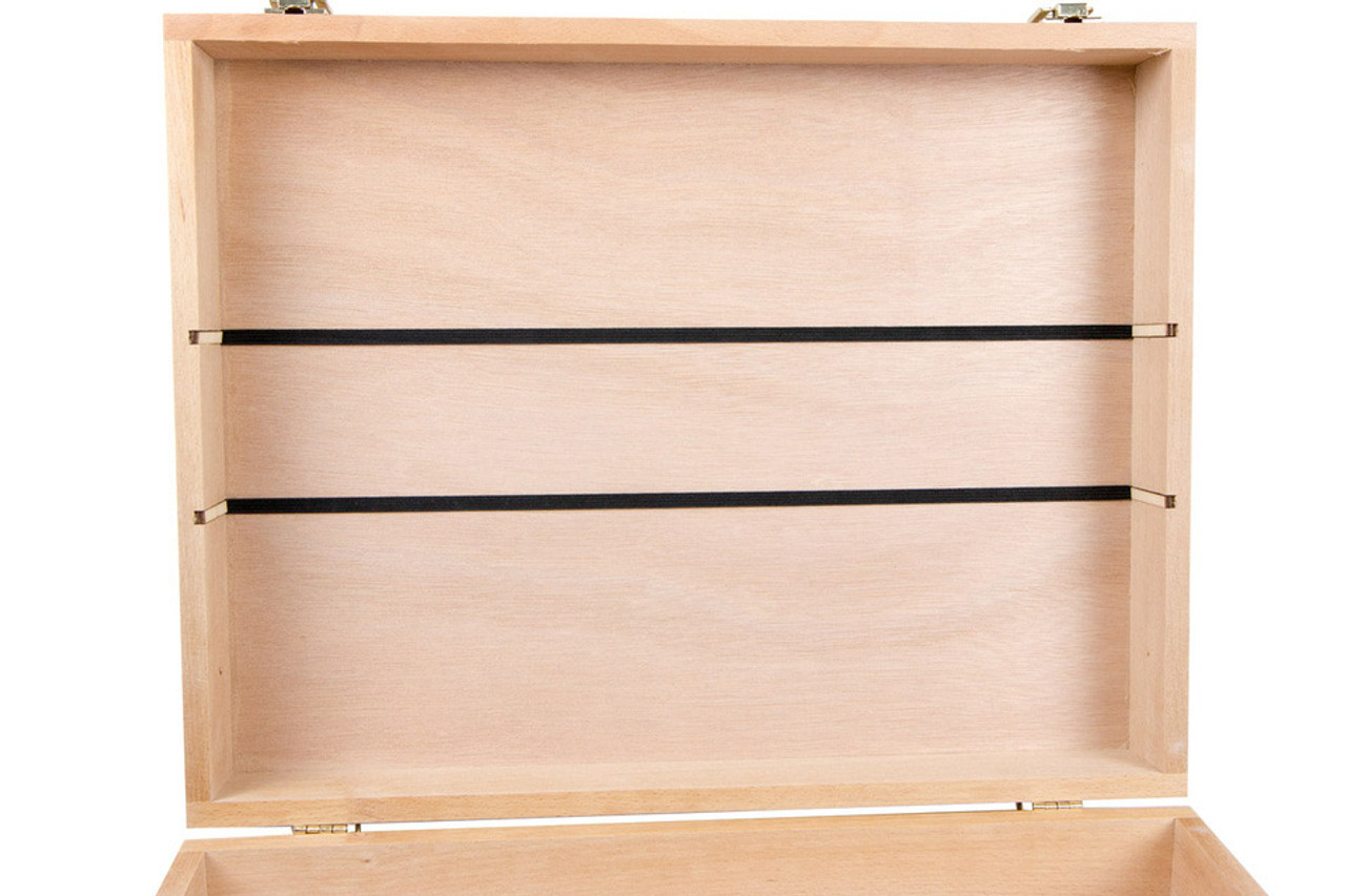 Unfinished Wooden Artist Case and ORG012 Organizer
