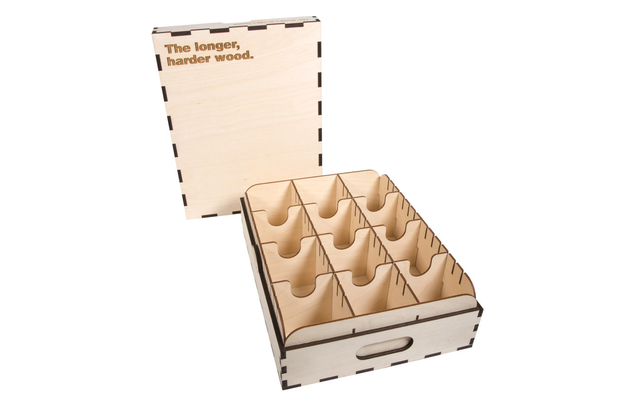 High Capacity Card Case -3 Row- Engraved -The Longer, Harder Wood