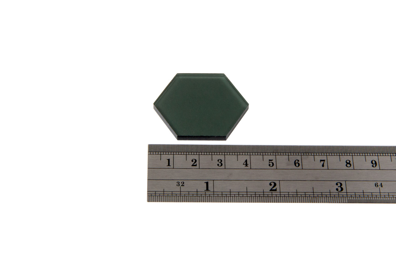 Transparent Gray 34mm Hex Tiles (10)