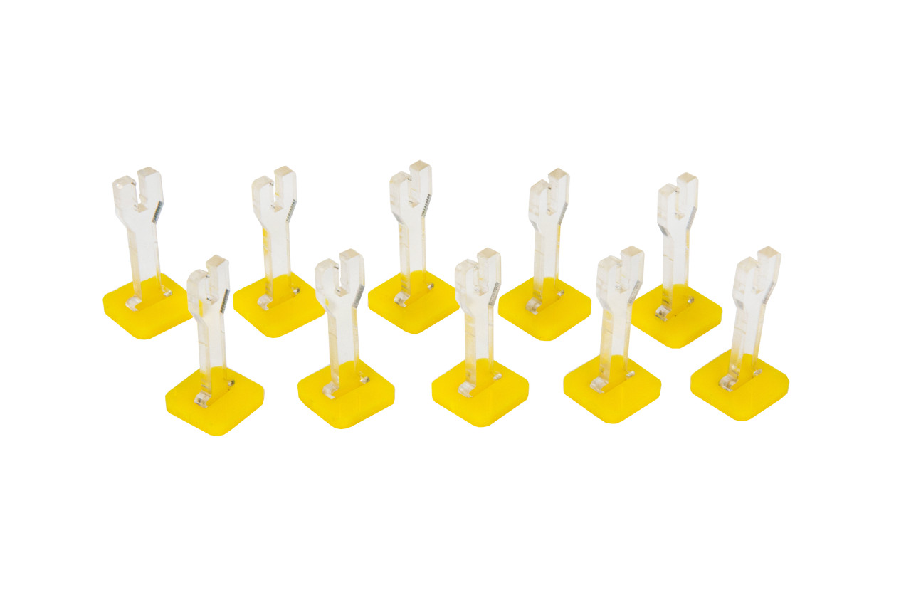 Flying Stands (10) w/ Yellow Bases