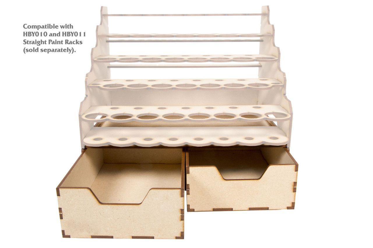 Modular Paint Rack - Drawer Double