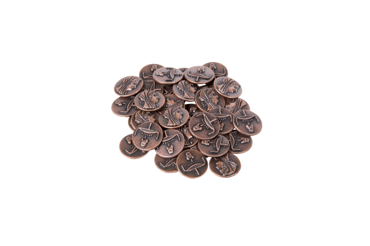 Egyptian Themed Gaming Coins - Tiny 15mm (18-Pack)