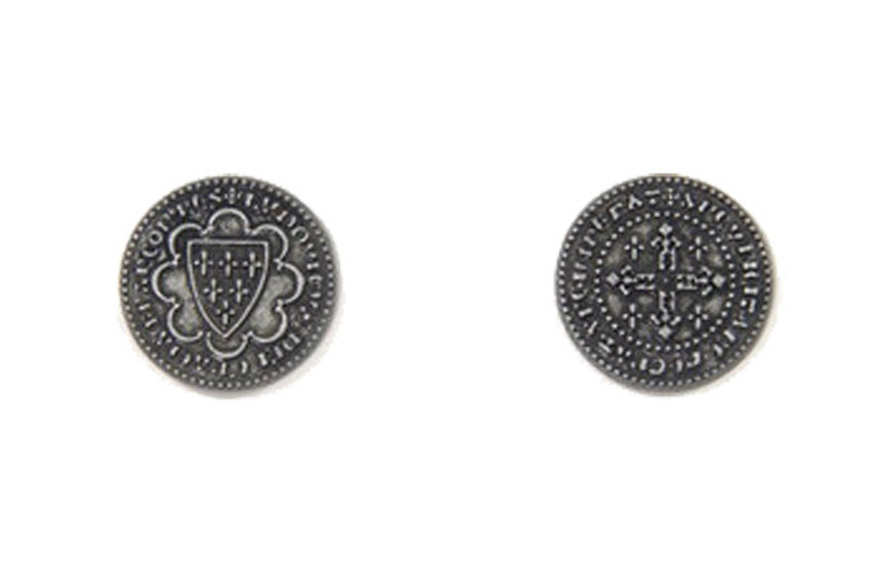 Middle Ages Themed Gaming Coins - Small 20mm (15-Pack)