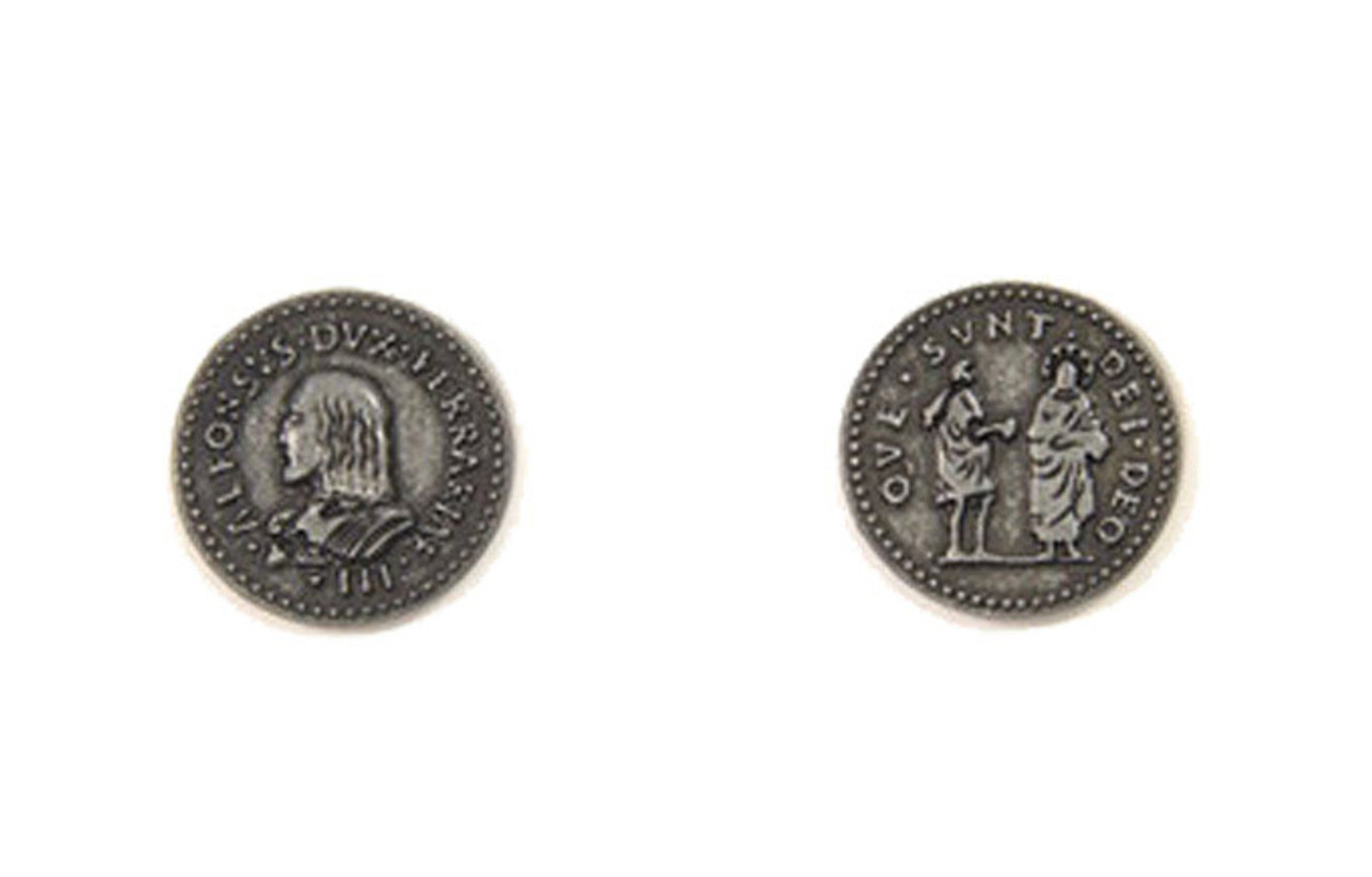 Renaissance Themed Gaming Coins - Small 20mm (15-Pack)