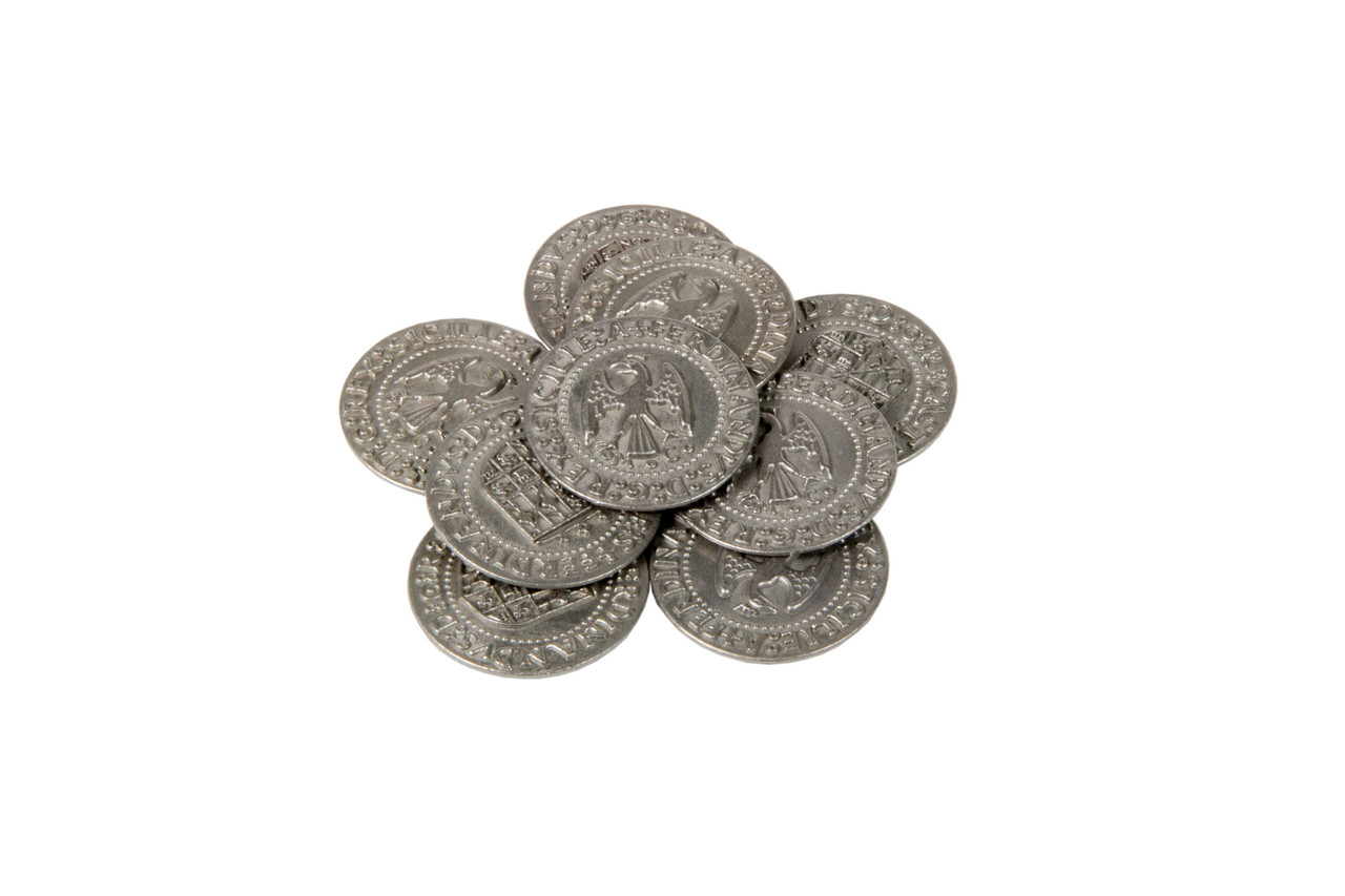 Renaissance Themed Gaming Coins - Large 30mm (9-Pack)