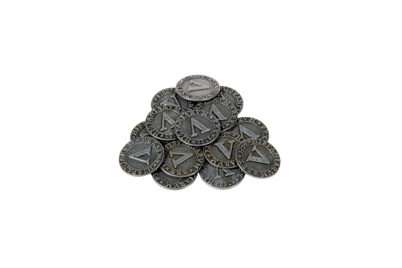 Pirate Doubloons Themed Gaming Coins - Small 20mm (15-Pack)