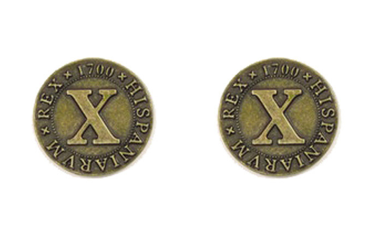 Pirate Doubloons Themed Gaming Coins - Medium 25mm (12-Pack)