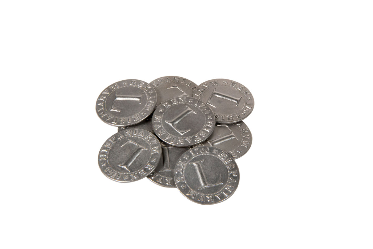 Pirate Doubloons Themed Gaming Coins - Large 30mm (9-Pack)