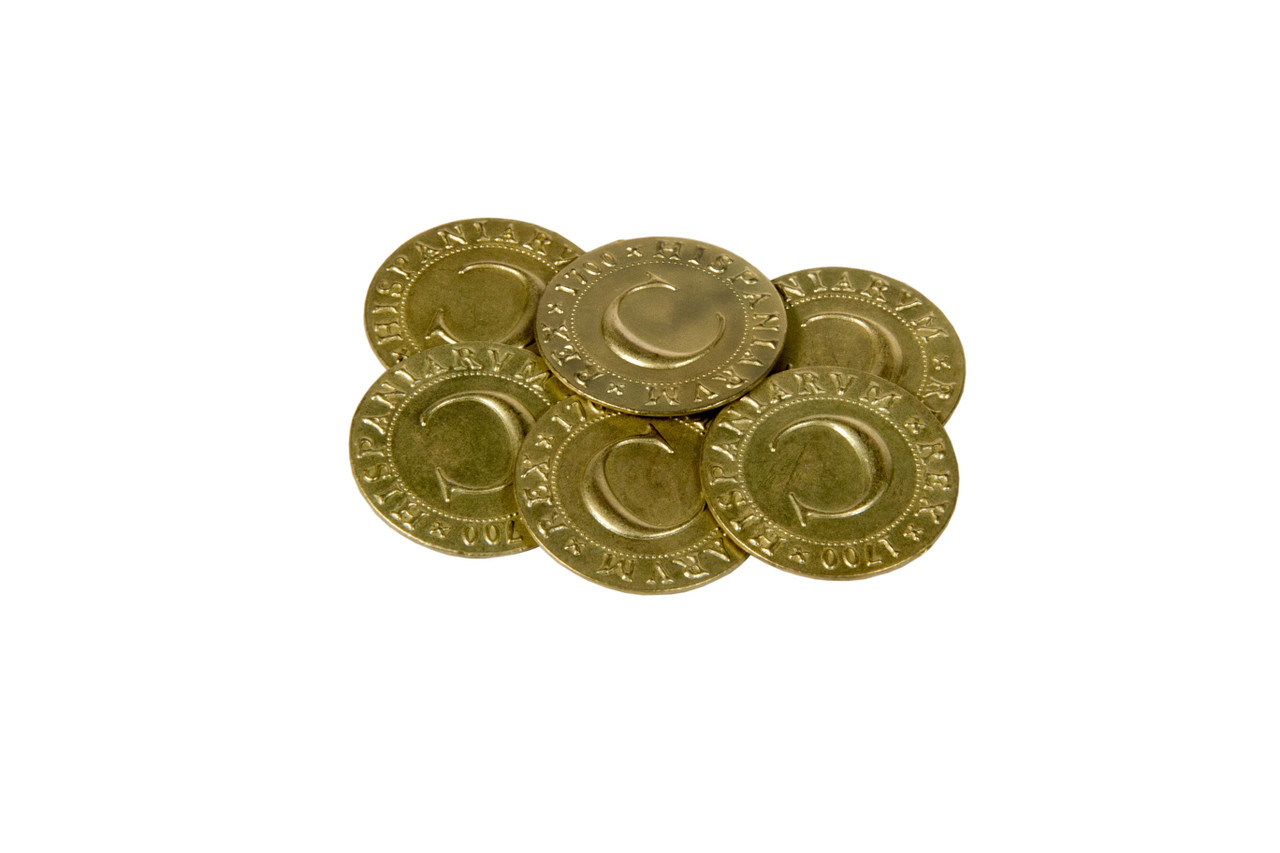 Pirate Doubloons Themed Gaming Coins - Jumbo 35mm (6-Pack)