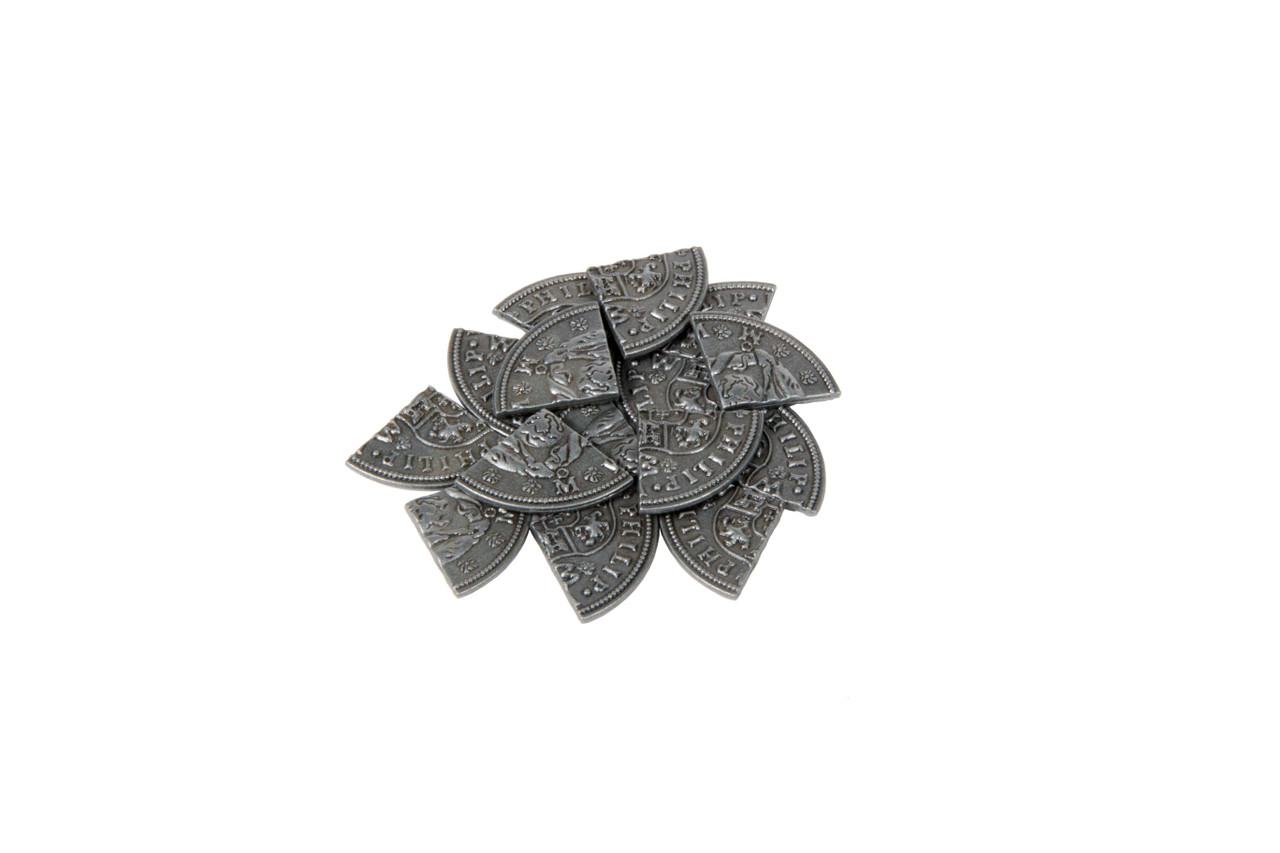 Pieces of Eight Themed Gaming Coins - Small 20mm (15-Pack)