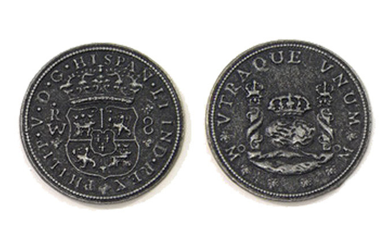 Pieces of Eight Themed Gaming Coins - Large 30mm (9-Pack)