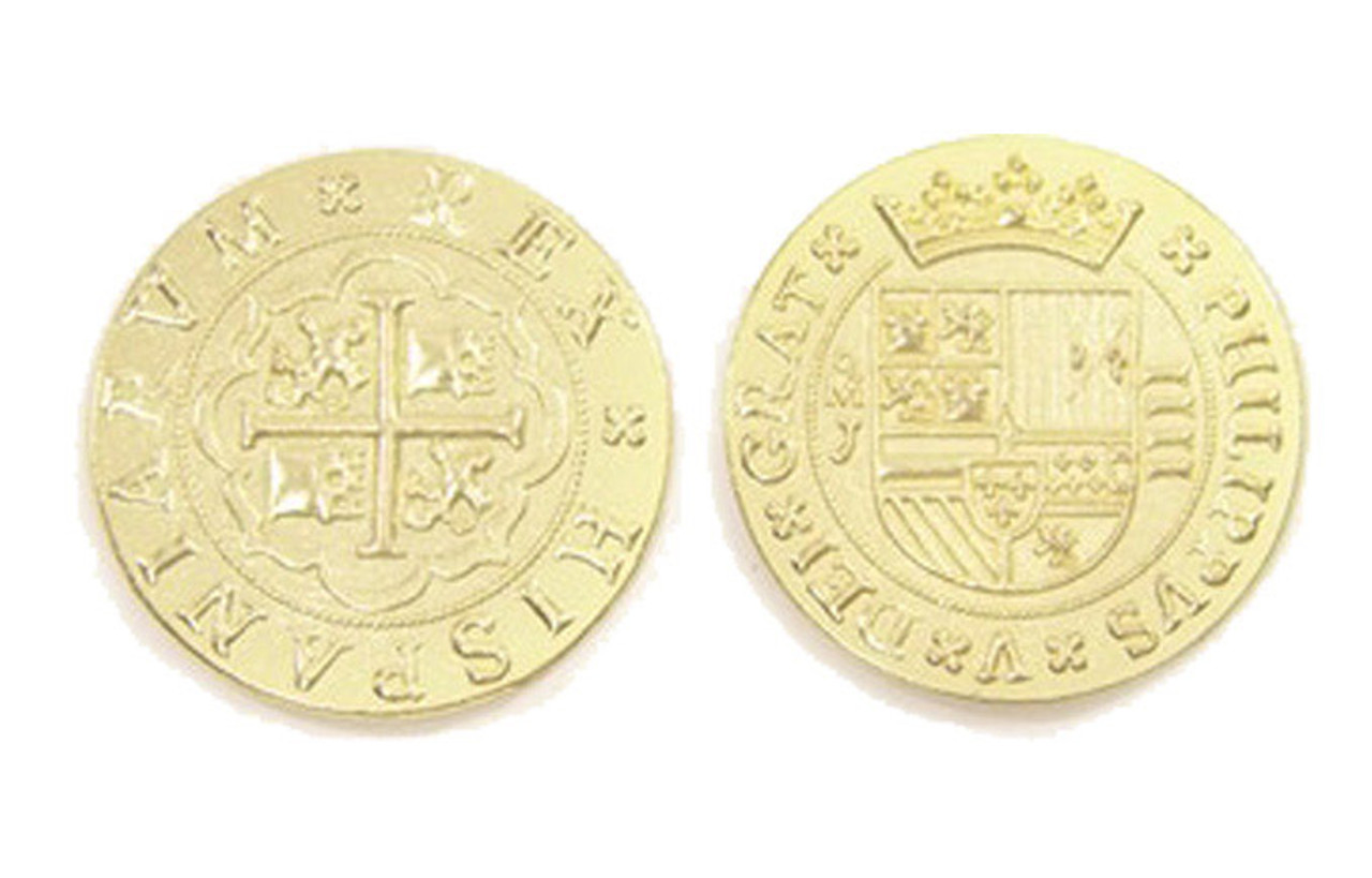 Pieces of Eight Themed Gaming Coins - Jumbo 35mm (6-Pack)