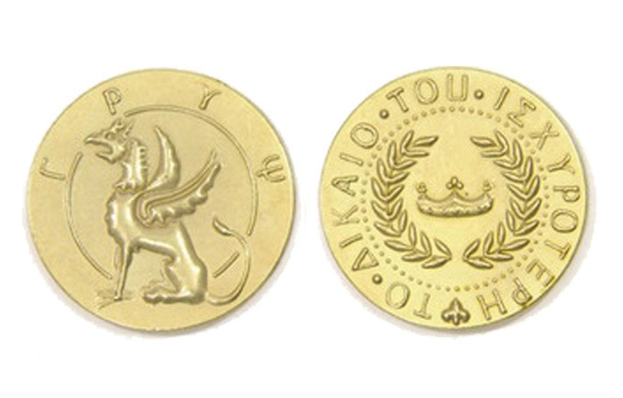 Mythological Creatures Themed Gaming Coins - Jumbo 35mm (6-Pack)