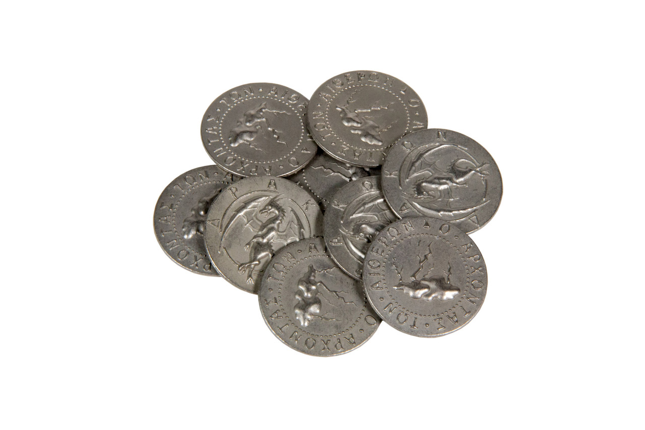 Mythological Monsters Themed Gaming Coins - Large 30mm (9-Pack)