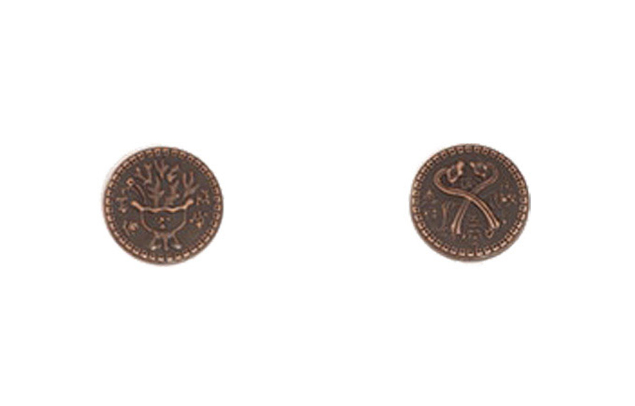Chinese Themed Gaming Coins - Tiny 15mm (18-Pack)