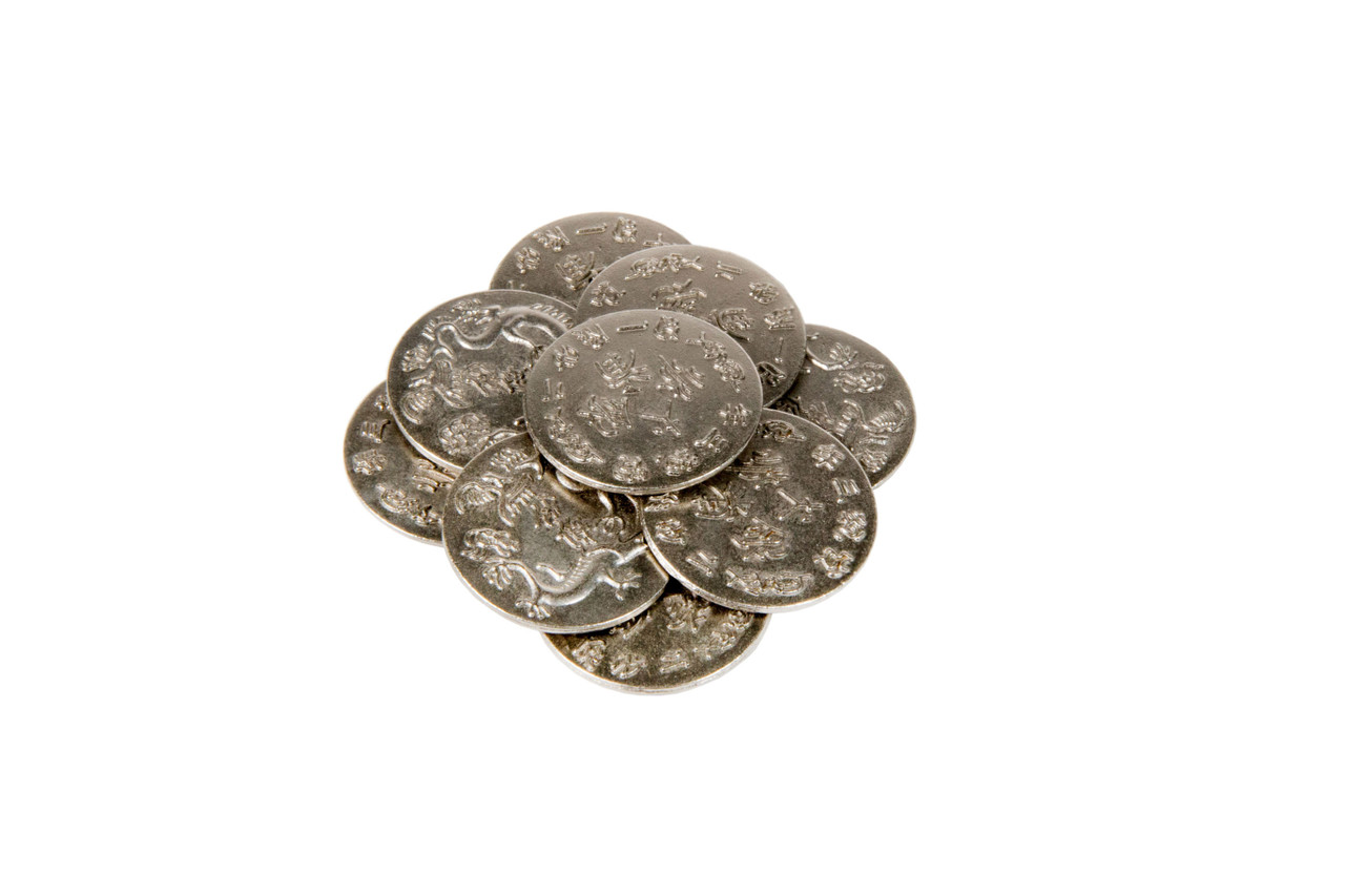 Chinese Themed Gaming Coins - Large 30mm (9-Pack)