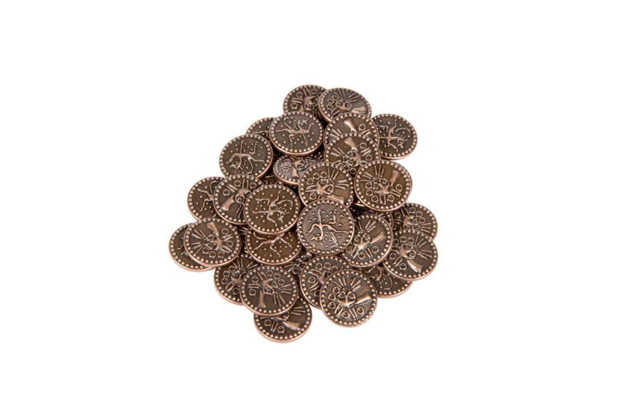 Anglo-Saxon Themed Gaming Coins - Tiny 15mm (18-Pack)