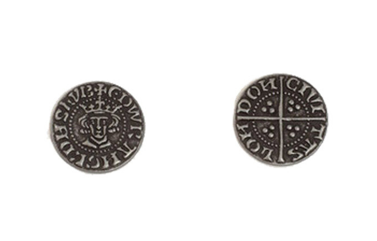 Early English Kings Themed Gaming Coins - Small 20mm (15-Pack)