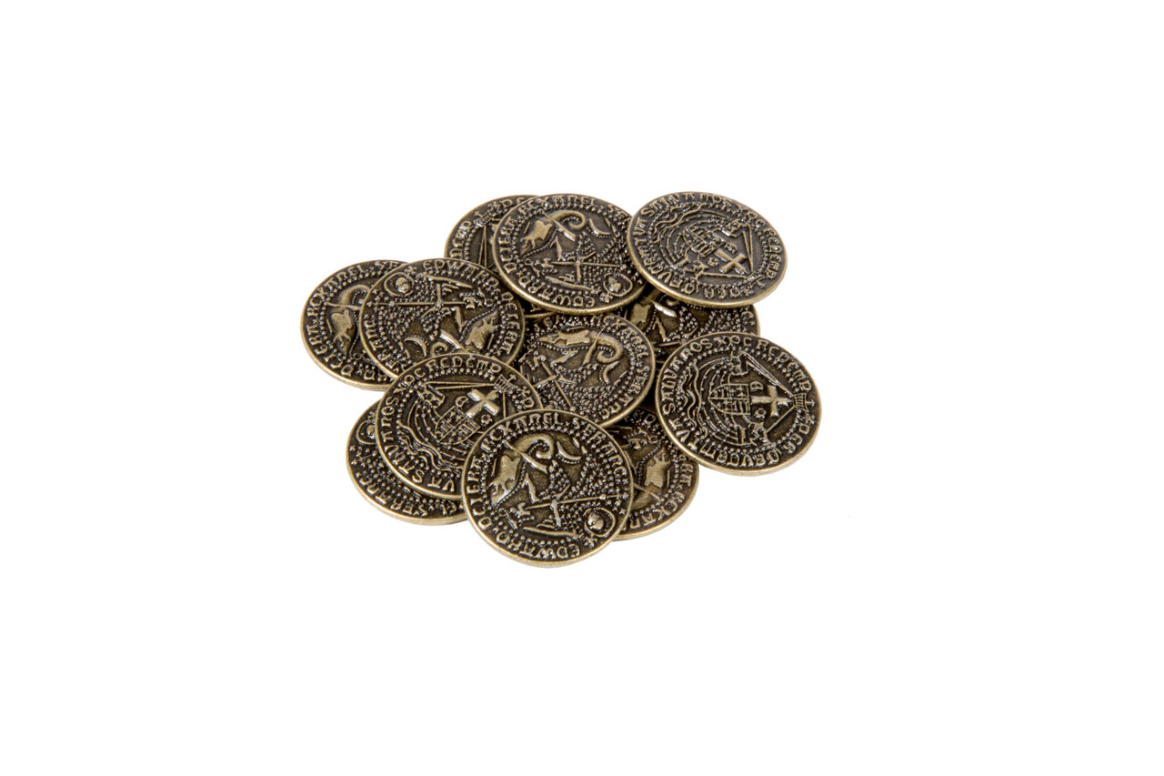 Early English Kings Themed Gaming Coins - Medium 25mm (12-Pack)