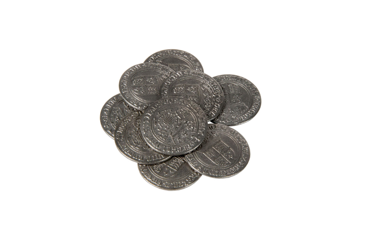 Early English Kings Themed Gaming Coins - Large 30mm (9-Pack)
