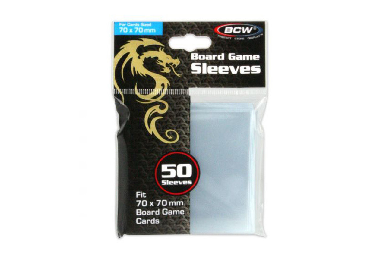 Board Game Sleeves - Square No.1 (70x70mm)