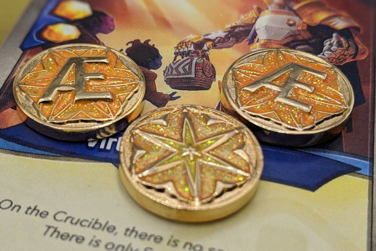 Archonic Energy Metal Aember Tokens (10)