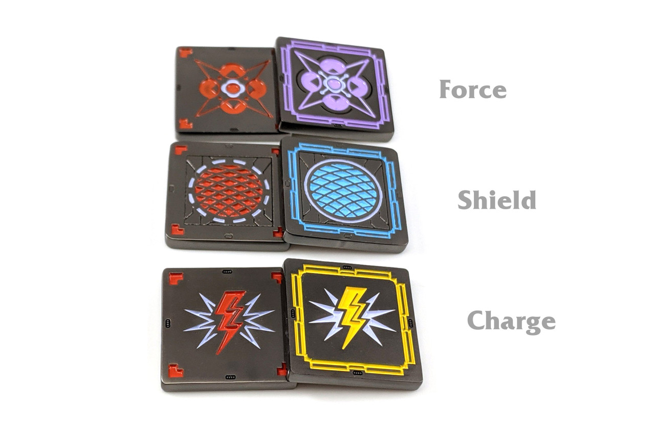Starship Elite Playsets Metal Shield, Charge, and Force Tokens