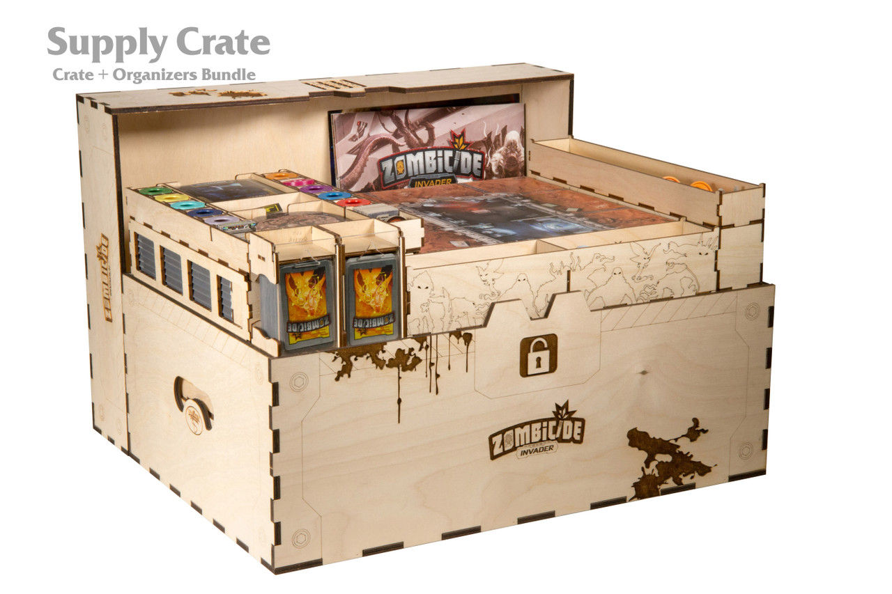 Zombicide Sci-Fi Supply Crate Organizer and Crate Bundle