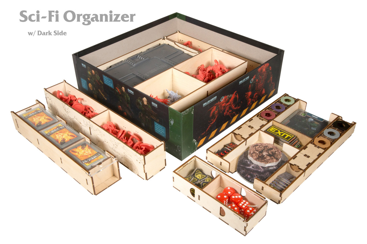 Zombicide Sci-Fi Organizer with Dark Side Content