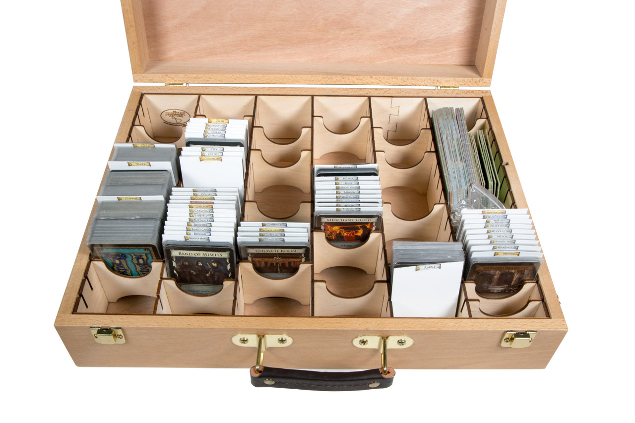 Unfinished Wooden Artist Case and Euro Organizer Set