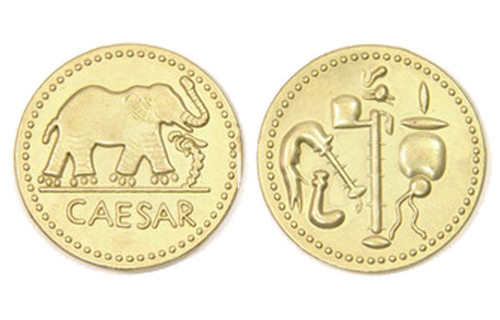 Roman Themed Gaming Coins - Jumbo 35mm (6-Pack)