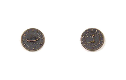 Pirate Ships Themed Gaming Coins - Tiny 15mm (18-Pack)