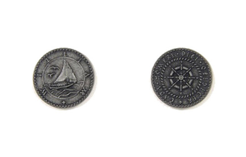 Pirate Ships Themed Gaming Coins - Small 20mm (15-Pack)