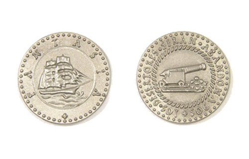 Pirate Ships Themed Gaming Coins - Large 30mm (9-Pack)