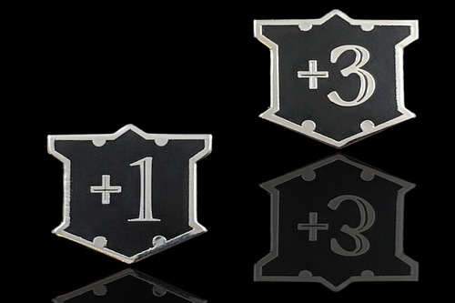 Loyal Shield Counters Metal Loyalty and Armor Token Set - Silver (5)