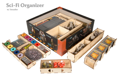 Zombicide Sci-Fi Organizer with Invader Content