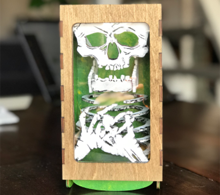 Paint Your Dice Tumbler: Bones