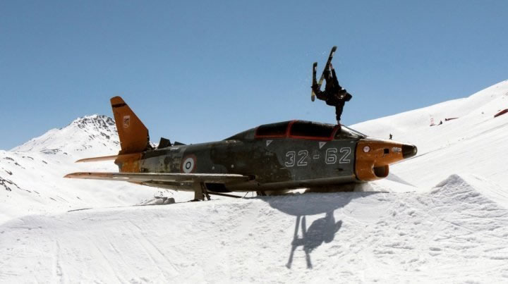 Andy Parry Skiing with Plane