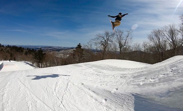 Dylan Aker Freeskier Jump