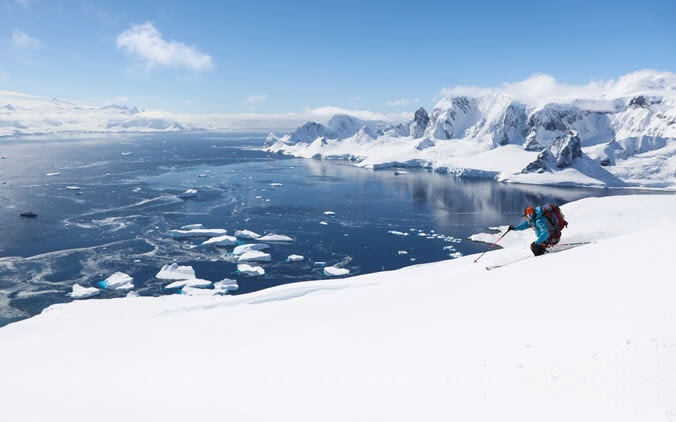 John Egan Skiing Antarctica
