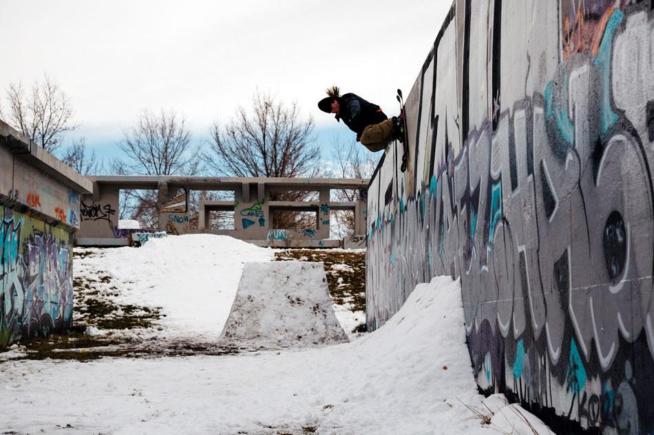 Luke Hagearty skiing