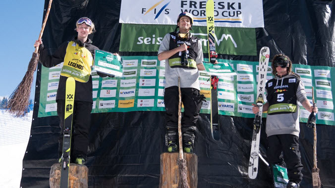 Nick Goepper on the Podium