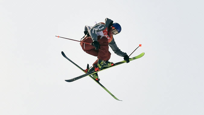 Nick Goepper in the air