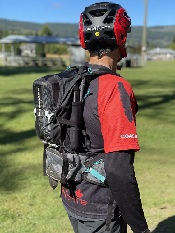 Wearing OTRmost Hydrapack for Gravity MTB's first look