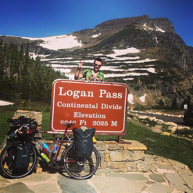 Brendan Walsh at the Logan Pass Continental Divide