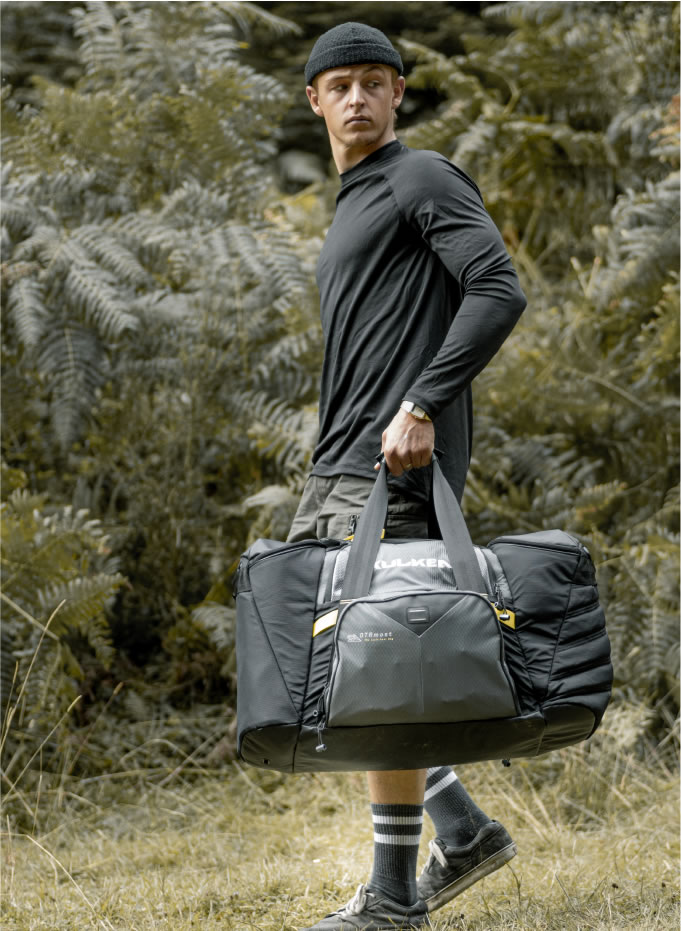 Carrying the Cycle Gear Bag OTRmost by Kulkea