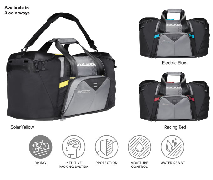 Available in 3 colorways Cycle Gear Bag Kulkea OTRmost