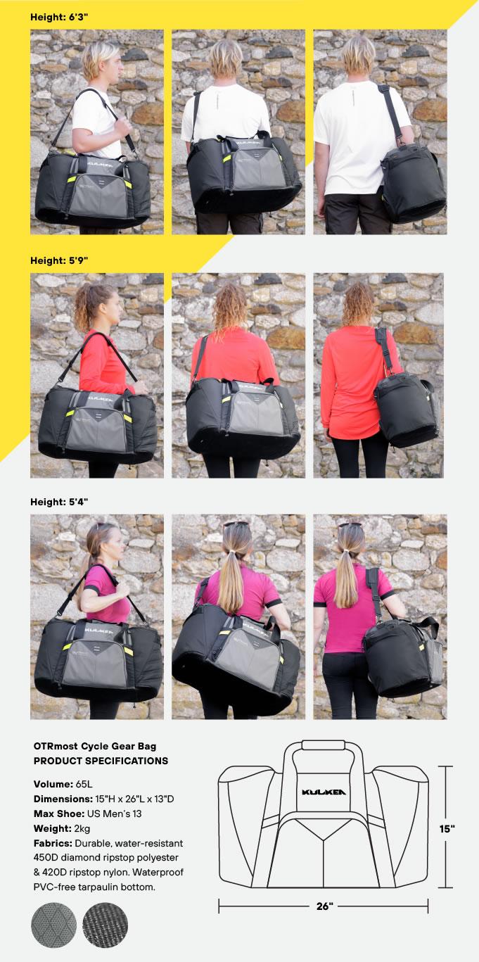Specifications Cycle Gear Bag OTRmost by Kulkea