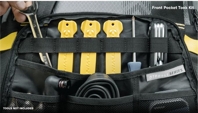 Front Pocket Tool Kit Close Up Cycle Gear Bag OTRmost
